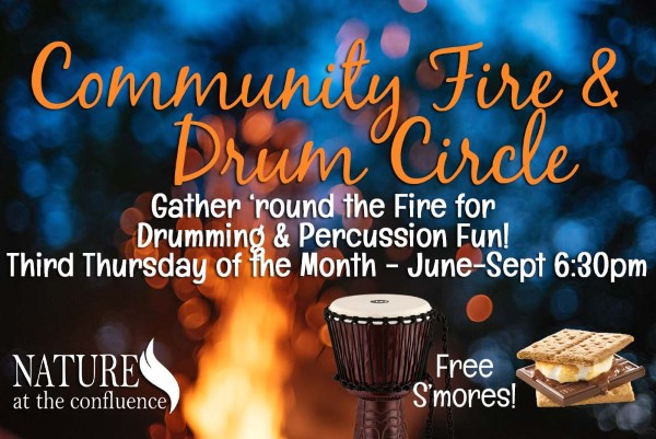 CANCELLED FOR THIS YEAR | Community Fire & Drum Circle @ Nature At The Confluence Campus