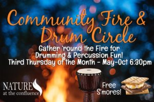 CANCELLED DUE TO WEATHER! Community Fire Gathering & Drum Circle @ Nature At The Confluence Campus