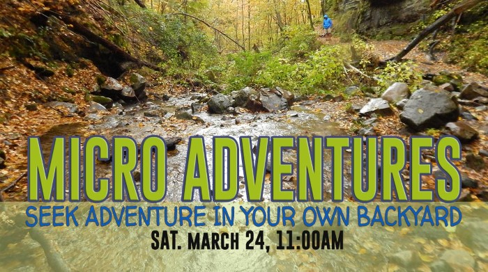 Micro Adventures : Seek Adventures in Your Own Backyard @ Nature At The Confluence Campus