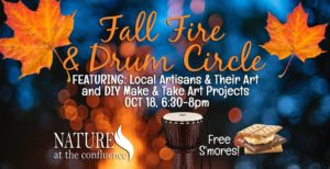 Fall Fire & Drum Circle @ Nature At The Confluence Campus | South Beloit | Illinois | United States