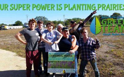 Super humans show off their super planting skills!
