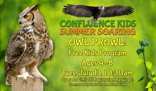 Owl Prowl   Free! Confluence Kids Summer Soaring Program